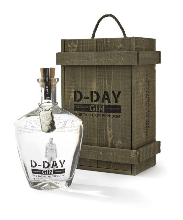 D-day gin 40,44% - 70 cl in kist